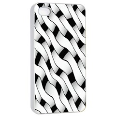 Black And White Pattern Apple iPhone 4/4s Seamless Case (White)