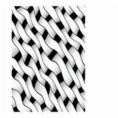 Black And White Pattern Small Garden Flag (Two Sides)