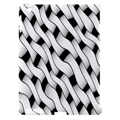Black And White Pattern Apple iPad 3/4 Hardshell Case (Compatible with Smart Cover)