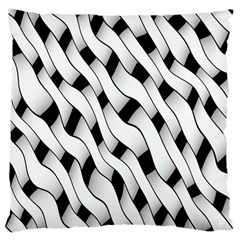 Black And White Pattern Large Cushion Case (two Sides)