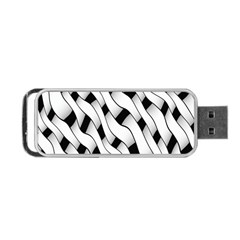 Black And White Pattern Portable Usb Flash (two Sides)