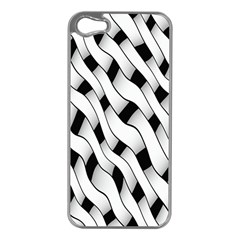 Black And White Pattern Apple iPhone 5 Case (Silver)
