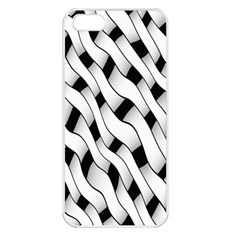 Black And White Pattern Apple iPhone 5 Seamless Case (White)