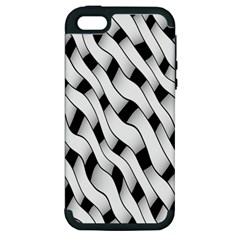 Black And White Pattern Apple iPhone 5 Hardshell Case (PC+Silicone)
