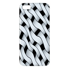 Black And White Pattern Apple iPhone 5 Premium Hardshell Case