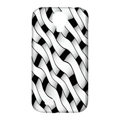 Black And White Pattern Samsung Galaxy S4 Classic Hardshell Case (PC+Silicone)