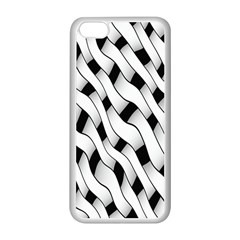 Black And White Pattern Apple iPhone 5C Seamless Case (White)