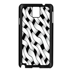 Black And White Pattern Samsung Galaxy Note 3 N9005 Case (Black)
