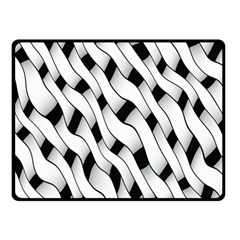 Black And White Pattern Double Sided Fleece Blanket (Small)