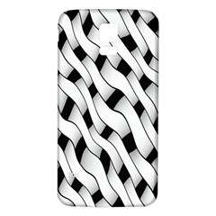 Black And White Pattern Samsung Galaxy S5 Back Case (White)