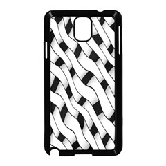 Black And White Pattern Samsung Galaxy Note 3 Neo Hardshell Case (Black)