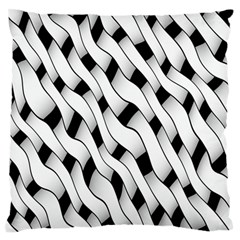 Black And White Pattern Large Flano Cushion Case (Two Sides)