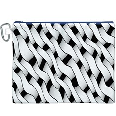 Black And White Pattern Canvas Cosmetic Bag (XXXL)