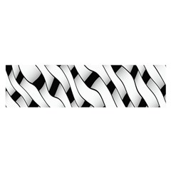 Black And White Pattern Satin Scarf (Oblong)