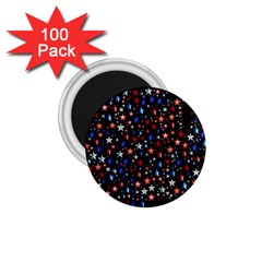 America Usa Map Stars Vector  1.75  Magnets (100 pack)