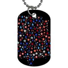America Usa Map Stars Vector  Dog Tag (One Side)