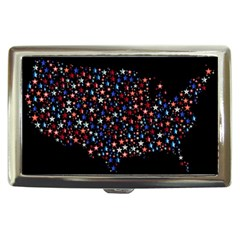 America Usa Map Stars Vector  Cigarette Money Cases