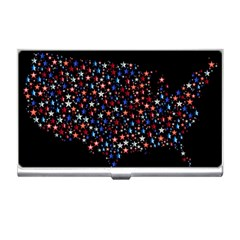 America Usa Map Stars Vector  Business Card Holders