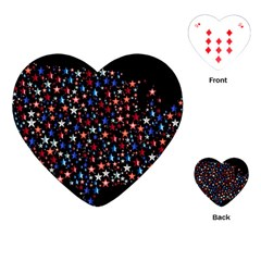America Usa Map Stars Vector  Playing Cards (Heart)