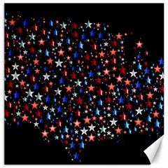 America Usa Map Stars Vector  Canvas 16  x 16