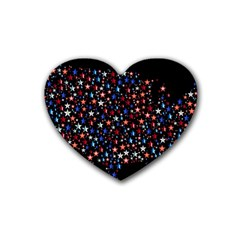 America Usa Map Stars Vector  Heart Coaster (4 Pack)
