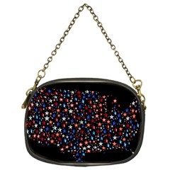 America Usa Map Stars Vector  Chain Purses (One Side)