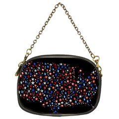 America Usa Map Stars Vector  Chain Purses (Two Sides)
