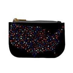 America Usa Map Stars Vector  Mini Coin Purses