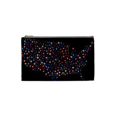 America Usa Map Stars Vector  Cosmetic Bag (Small)