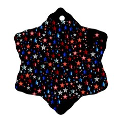 America Usa Map Stars Vector  Snowflake Ornament (Two Sides)