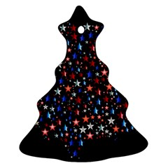 America Usa Map Stars Vector  Christmas Tree Ornament (Two Sides)