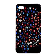 America Usa Map Stars Vector  Apple Iphone 4/4s Seamless Case (black)