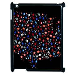 America Usa Map Stars Vector  Apple iPad 2 Case (Black)