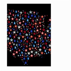 America Usa Map Stars Vector  Large Garden Flag (two Sides)