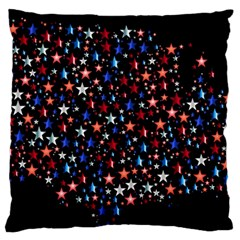 America Usa Map Stars Vector  Large Cushion Case (Two Sides)