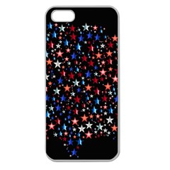 America Usa Map Stars Vector  Apple Seamless iPhone 5 Case (Clear)