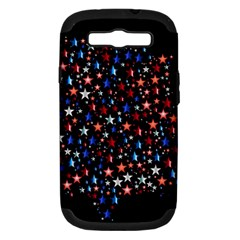 America Usa Map Stars Vector  Samsung Galaxy S III Hardshell Case (PC+Silicone)
