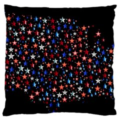 America Usa Map Stars Vector  Standard Flano Cushion Case (Two Sides)