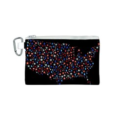 America Usa Map Stars Vector  Canvas Cosmetic Bag (s)