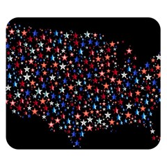 America Usa Map Stars Vector  Double Sided Flano Blanket (Small)
