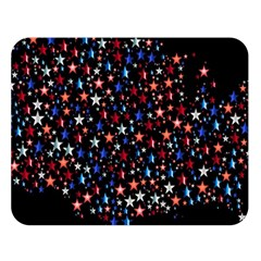 America Usa Map Stars Vector  Double Sided Flano Blanket (Large)