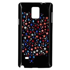America Usa Map Stars Vector  Samsung Galaxy Note 4 Case (black)