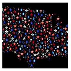 America Usa Map Stars Vector  Large Satin Scarf (Square)