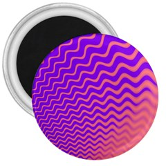 Pink And Purple 3  Magnets