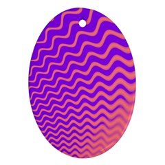 Pink And Purple Ornament (Oval)