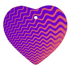 Pink And Purple Ornament (Heart)