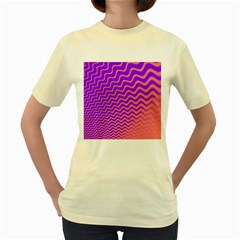 Pink And Purple Women s Yellow T Shirt