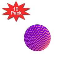 Pink And Purple 1  Mini Magnet (10 Pack)