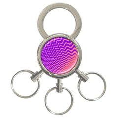 Pink And Purple 3 Ring Key Chains