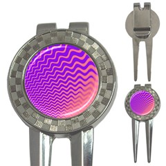 Pink And Purple 3-in-1 Golf Divots